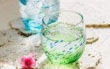 琉球ガラス村 ペア群星モールグラス(水・緑)