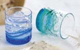 琉球ガラス村 ペア潮騒でこぼこグラス(青/水・水/緑 )