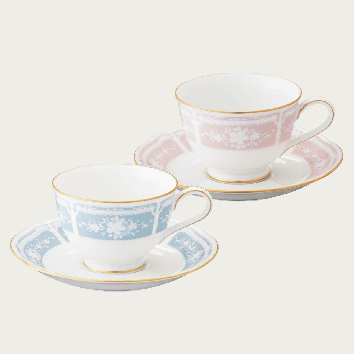 レースウッドゴールド ティー・コーヒー碗皿ペアセット(色変り) [1507-14L/Y6578A]