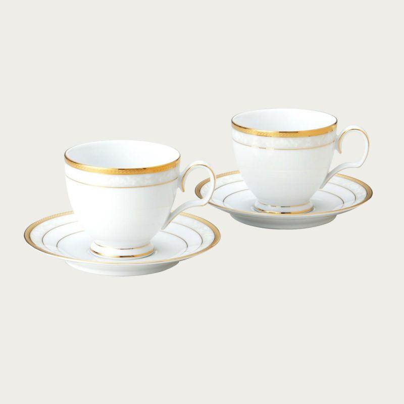 ハンプシャーゴールド ペアティー・コーヒー碗皿 [4335L/P91988]