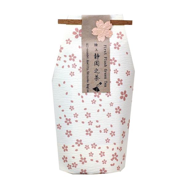 お守型 さくら柄 静岡之茶ティーバッグ(45個以上〜受付) [0820]