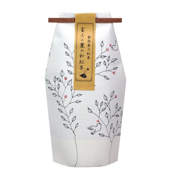 お守型 木と小鳥柄 和紅茶ティーバッグ(45個以上〜受付) [0837]