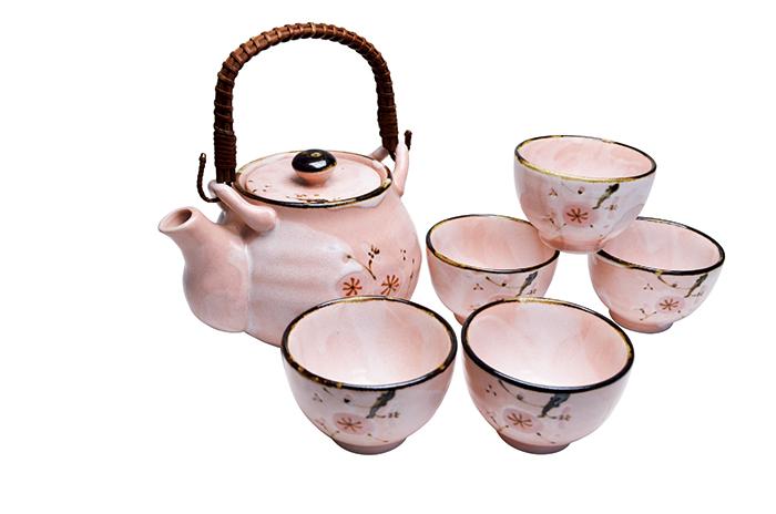 雅志野 土瓶茶器揃 [SE1-183-3]