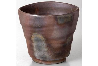 伝統工芸士 備前焼 ろくろびきカップ [32-208-107]