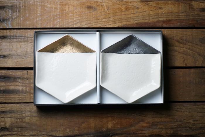 m.m.d./取皿 / 瀬戸焼 / 特別釉薬 2枚セットギフトボックス付き [mmd5]