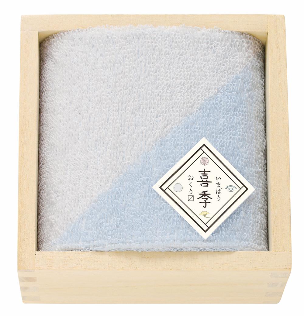 今治 喜季(きき)おくりマス 日本製 愛媛今治 木箱入りハンドタオル[62911]
