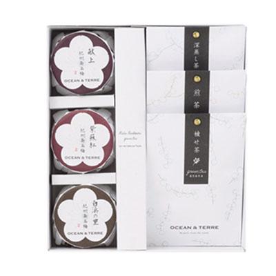 Premium 紀州南高梅&日本茶セットC [A208]