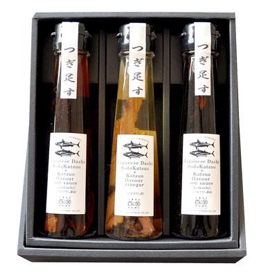 Japanese Dashi Katsuoflavor soysauce &Vinegar 3本セット[だし醤油/濃口・淡口 だし酢] [SHM46498]