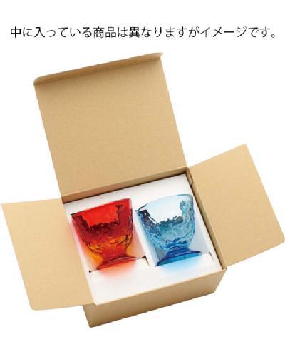 [名入れ]琉球ガラス村 ペアでこロックグラス(青/水・水/緑 ) [ryukyu1N]