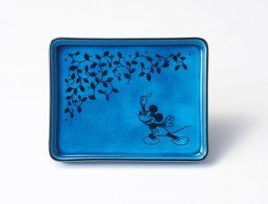 Koubei Gama / Persian Blue長角皿(指さし) [3284-01]