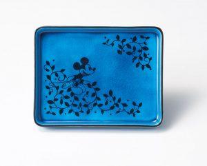 Koubei Gama / Persian Blue長角皿(ひとやすみ) [3284-02]