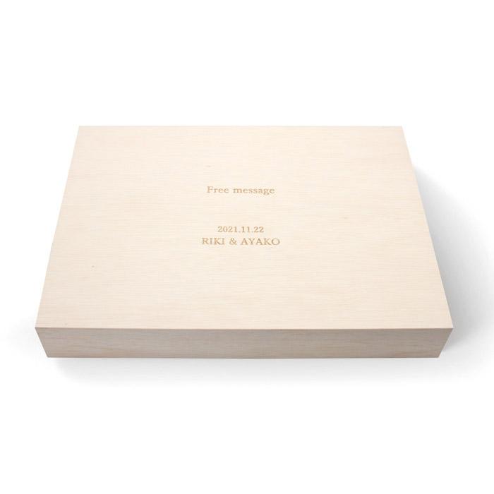 お福分け 一段重(木箱入)(名入れ)【5個〜受付商品です】 [HW-35A]-2