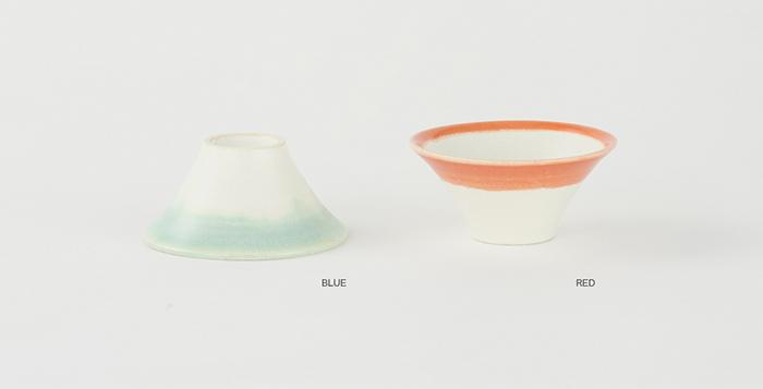 富士猪口 Couple Blue & Red [FL06-00405]